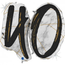 *INFLATED * Marble Mate Foil number Balloon - 40 BLACK