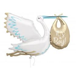 "Giant Stork ""It's a boy"" foil Balloon"