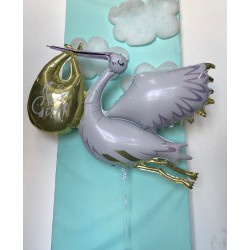 """*INFLATED* Giant Stork """"It's a girl/Its a boy"""" foil Balloon"""