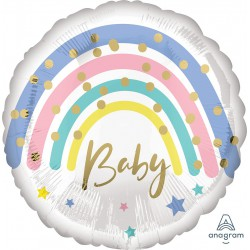 Pastel Rainbow Baby Foil Balloon