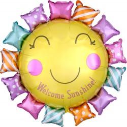 Welcome Sunshine Baby  Foil Balloon