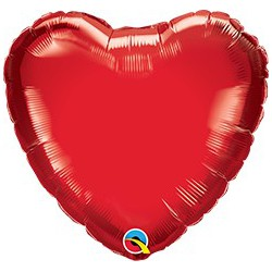 *INFLATED* Heart Shaped Foil Balloon