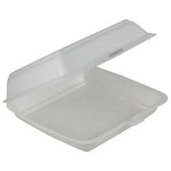 100 pack of Single Compartment Foam Clams (C-SEA17)
