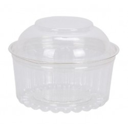8oz Show Bowl Plastic Containers- 50 pack