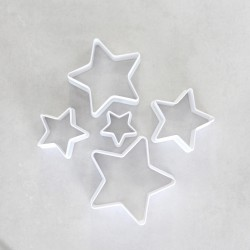 Plastic Star   Cookie Cutters