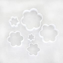 Plastic Flower Cookie Cutters