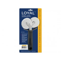 Double Wheel Plain and Serrated Cutter