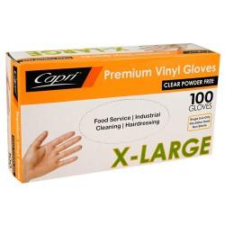 Premium Vinyl Powder Free Gloves- Extra Large