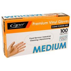 Premium Vinyl Powder Free Gloves- Medium