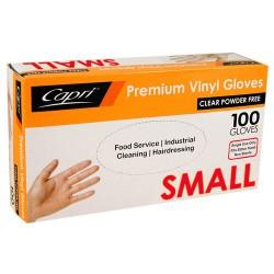 Premium Vinyl  Powder Free Gloves- Small