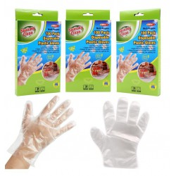 100 Pack Disposable Plastic Gloves -