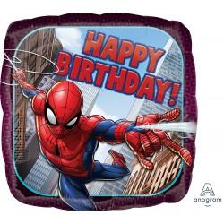 Spiderman Happy Birthday square Foil Balloon