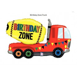 Birthday Zone Truck Foil Balloon