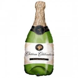 Champagne Bottle Shape  Foil Balloon