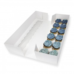 Long 54x15x10(H)cm  Cupcake box -12 cupcakes