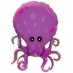 Purple Octopus Foil Balloon