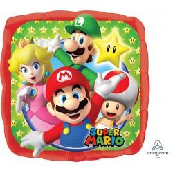 Super Mario Square Foil Balloon