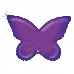 Holographic Purple Butterfly Foil Balloon