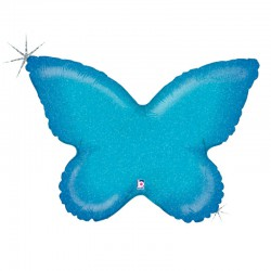 Holographic Blue Butterfly Foil Balloon