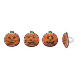 Halloween Chalk-O-Lantern pumpkin cupcake rings - 8 pack