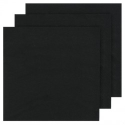 2 Ply Lunch Napkins 100pk - Black