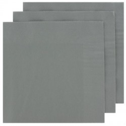 2 Ply Lunch Napkins 100pk - Silver