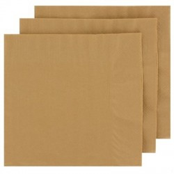 2 Ply Lunch Napkins 100pk - Gold