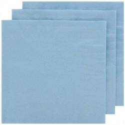 2 Ply Lunch Napkins 100pk - Light Blue