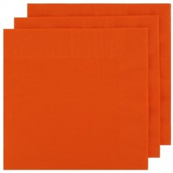 2 Ply Lunch Napkins 100pk - Orange