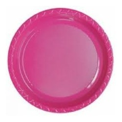 Lunch Plates 12 Pce - Magenta